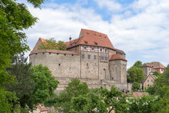 Cadolzburg Castle. The western view of  in the village Cadolzburg near Fürth in Germany royalty free stock photos