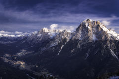 Cadore valley during the sunrise Royalty Free Stock Image