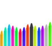 Cadrage des crayons Photo libre de droits