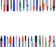 Cadrage des instruments d'écriture Images stock