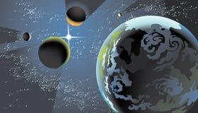 Cadrage planétaire illustration de vecteur