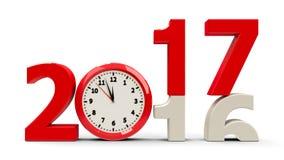 2016-2017 cadran d'horloge Images libres de droits