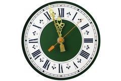 Cadran d'horloge analogique Photos stock