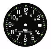 Cadran d'horloge noir militaire Photo libre de droits
