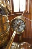 Cadran d'instrument de télégraphe de vitesse de bateau image stock