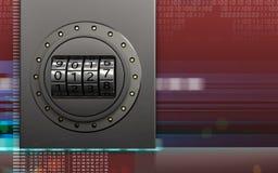 cadran de code de boîte en métal 3d Photo libre de droits
