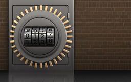cadran de code de cadran du code 3d Photographie stock