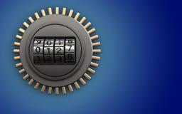 cadran de code de cadran du code 3d Images stock