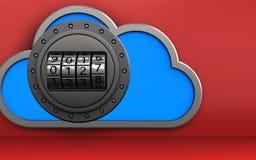 cadran de code de cadran du code 3d Image stock