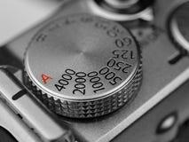 Cadran de vitesse d'obturateur de caméra images stock
