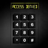 Cadran numérique noir de sécurité Photographie stock libre de droits