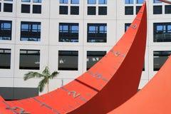 Cadran solaire à l'université du HK de la Science et de la technologie Photo libre de droits
