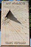 Cadran solaire Images libres de droits