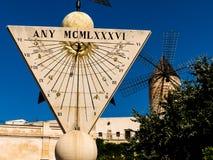 Cadran solaire dans le palma, Majorque Images libres de droits