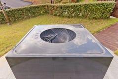 Cadran solaire hémisphérique Angbuilgu dans le jardin de la Science à Busan, Corée Image libre de droits
