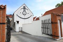Cadran solaire sur le bâtiment Photos libres de droits