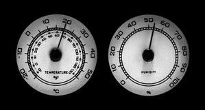 Cadrans de la température et d'humidité Photographie stock