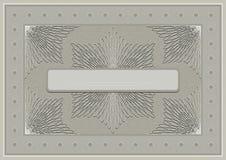 Cadre à jour avec l'ornement calligraphique aux nuances beiges. Photographie stock libre de droits