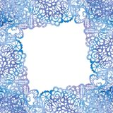 Cadre élégant de dentelle Carte _1 d'invitation Image libre de droits