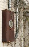 Cadre électrique à la maison de mètre Photo stock