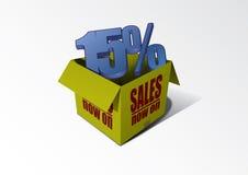 Cadre 15% de vente Photos libres de droits