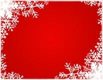 Cadre 2 de silhouette de flocon de neige Photos libres de droits