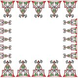 Cadre 55. Drawing is a frieze, in shades, red and green Royalty Free Stock Images