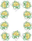 Cadre 8. Design with flowers on a white background Royalty Free Stock Photo