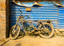 Cadre abandonné de motocyclette Image libre de droits