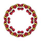 Cadre abstrait de cercle Image libre de droits