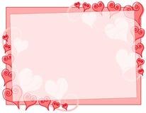 Cadre abstrait de coeurs du jour de Valentine Images stock