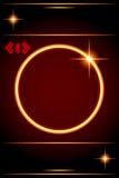 Cadre abstrait de fond-Cercle avec l'étoile de lentille. Photos stock