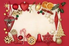 Cadre abstrait de Noël Photos stock