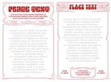 Cadre abstrait de vecteur des usines attachées Images libres de droits