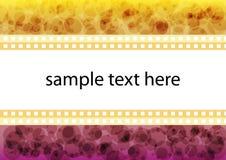 Cadre abstrait des textes Image stock