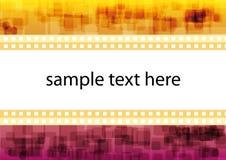 Cadre abstrait des textes Images stock