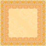 Cadre abstrait orange de place de conception Image stock
