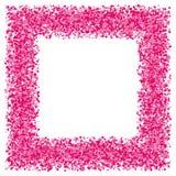 Cadre abstrait rose de texture Images libres de droits
