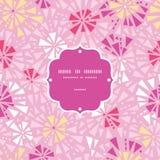 Cadre abstrait rose de triangles de vecteur sans couture Photo stock