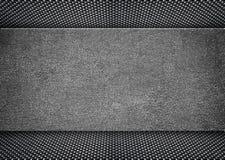 Cadre affligé brillant en métal sur le fond grunge, 3d, illustrat Images libres de droits