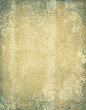 Cadre antique bleu Images libres de droits