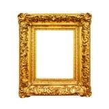 Cadre antique d'or de peinture d'isolement sur le blanc Photographie stock