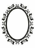 Cadre antique de miroir de fer Images stock