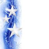 Cadre argenté bleu d'étoile Photos libres de droits