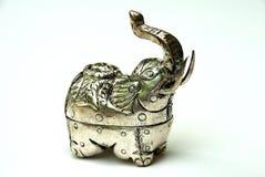 Cadre argenté d'éléphant Images libres de droits