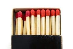 Cadre avec des allumettes Photographie stock libre de droits