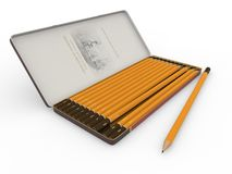 Cadre avec des crayons Photos stock