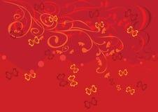 Cadre avec des guindineaux et des fleurs Image libre de droits