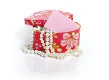 Cadre avec des perles Photos libres de droits
