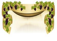 Cadre avec des raisins, vecteur de cdr illustration libre de droits